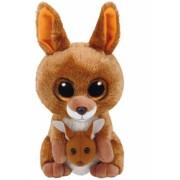 Jucarie plus 15 cm Beanie Boos KIPPER - brown kangaroo TY