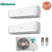 Hisense Climatizzatore Condizionatore Hisense Dual Split Inverter Serie Mini Apple Pie R-32 9+9 Con 2amw42uarra