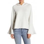 Melrose and Market Bell Sleeve Hooded Sweatshirt OATMEAL HEATHER