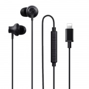 WiWU Earbuds 301 Wired Earphone In-Ear Corded Headset Stereo Control [MFi Certified] for iPhone/iPad/iPod - Black