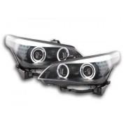 FK-Automotive fari Angel Eyes LED xeno BMW serie 5 E60/E61 anno di costr. 05-08 nero RHD - volante a destra