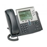 CISCO IP PHONE 7962G SCCP, SIP - 6 Líneas - Pantalla Monocromo - 2 puertos Ethernet 10/100 PoE - Toma Auriculares - Soporte PoE