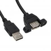 tiendatec EXTENSOR CONECTOR USB-A/H MONTAJE PANEL 30CM