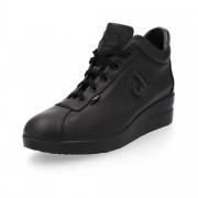 Agile by Rucoline Sneaker in pelle con zip e zeppa 4.5
