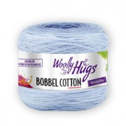 Woolly Hugs Bobbel Cotton von Woolly Hugs, Weiß/Bleu/Blau