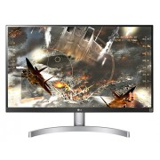 "LG 27UL600-W, 27"" Wide LED, IPS Panel Anti-Glare, sRGB 99%, Cinema Screen, 5ms, 1000:1, Mega DFC, 350 cd/m2, 3840x2160, VESA DisplayHDR 400, HDMI, DisplayPort, FreeSync, Headphone out, Tilt, Black"