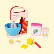 My First Baking Set - Wooden Toys - Brainsmith - Early Learning - Pretend Play - Imagination - Role Play toys - Story telling Activity - Creativity building - Birthday gift - Return Favour - Play and Learn - Child safe toys - 3+ years - Bake a Cake Play s