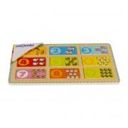 Puzzle din lemn MomKi Numere 18 piese