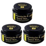 Park Daniel Premium Moustache & Beard Wax Combo of 3 Bottles of 50 gm(150 gm)