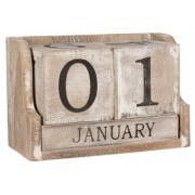 Jysk Partivarer Modern kalender i trä