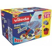 Set curatenie Vileda Box Mocio 3 Action Completo, Galeata cu storcator + rezerva mop