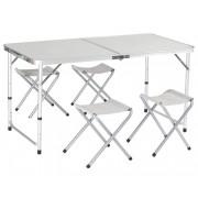 Set pentru camping masa plianta + 4 scaune