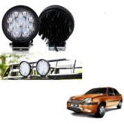 Auto Addict DEVICE 4 inch 9 LED 27Watt Round Fog Light with Flood Beam Auxiliary Lamp Set Of 2 Pcs For Ford Ikon
