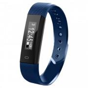 Bratara fitness smart RegalSmart HR-167 BT 4.0, rezistenta la apa IP67, ritm cardiac, pedometru, remote camera, notificari, Android, iOS, vibratii, albastru