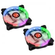 Set 2 ventilatoare 120 mm Raijintek IRIS 12 Rainbow RGB LED