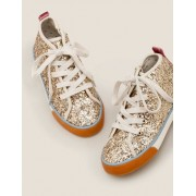 Mini Gold Hochgeschnittene Schuhe Mädchen Boden, 34, Metallic