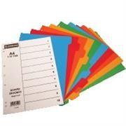Donau A4 File Divider Plastic Tab1-10, Retail