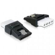 Delock Adattatore di Alimentazione 4 pin Molex F a SATA 15 pin F con Clip