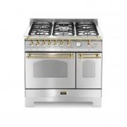 Lofra Rsd96mfte/ci Inox 90x60 Cucina Con Piano In Acciaio Satinato - 5 Fuochi A Gas Di Cui 1 Tripla Corona - 2 Forni (Forno Pri