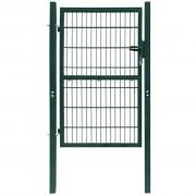 vidaXL Градинска врата (единична), 106 х 170 см, зелена