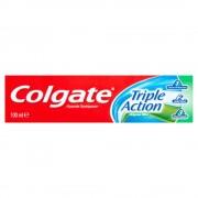 Pasta Dinti Colgate Triple Action, 100 ml, Aroma de Menta, Pasta de Dinti cu Menta, Articole Igiena Dentara, Pasta pentru Ingrijirea Dintilor, Produse pentru Ingrjire Orala, Produse pentru Sanatate Orala, Igiena Orala, Ingrijire si Igiena Orala