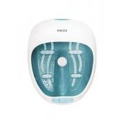 Aparat de hidromasaj cu incalzire, HoMedics, 4 role de masaj detasabile, 2 accesorii, FS-250-EU, Alb/Albastru