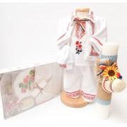 Set Traditional Botez Costumas baietel Trusou Lumanare 3