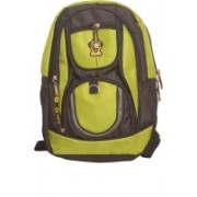 Zest 16 inch Laptop Backpack(Black, Green)