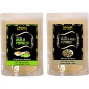 Donnara Organics 100% Natural Amla Powder and Kaunch Beej powder Combo pack of 2 of 150 gms(300 gms)