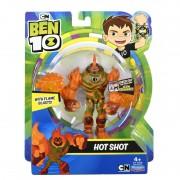 Figurina Ben 10 Hot Shot, 12 cm, 3 ani+