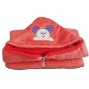Furn@Home Teddy Design Hooded Fur Red Baby Blanket With Zip