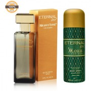 Eternal Love Eau De Parfum Women 120ml + Eternal Love Body Spray Xlouis Men 200ml