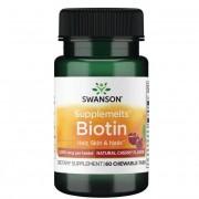 Swanson Biotin 60 cucací tablety