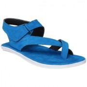 Shoegaro Men's Blue Suede Leather Casual Sandal