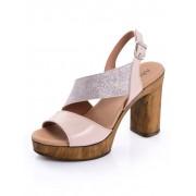 Alba Moda Sandalette im Optikenmix, rosé