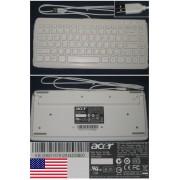 Clavier/Keyboard Qwerty US DOMESTIQUE Pour KU-0906 KU0906, KB.USB03.157 KBUSB03157, Port connecteur/ connector USB, Blanc/White