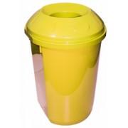 Cos gunoi colectare selectiva 40 l rotund galben