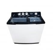 Masina de spalat rufe semiautomata Heinner HSWM-127BK, 12 Kg, 7 Kg, Alb/Negru