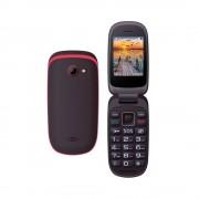 Maxcom MM818BB kártyafüggetlen, extra nagy gombokkal, vészhívóval fekete - piros