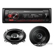 Pioneer MVH-S310BT Bluetooth autohifi, USB/AUX, crveni + TS-G1710F 17cm par zvučnika