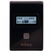UPS nJoy Isis 850L Line Interactive 850VA AVR Black Case + Gray Power Button