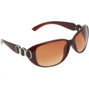 Zyaden Brown Oval sunglasses for women 426