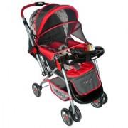 Pollyspet Reversable Baby Stroller (PP2051 Red)