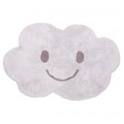 Miliboo Tapis enfant en coton gris 75x115 cm NIMBUS