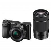 Sony Alpha A6000 ICL systeemcamera Zwart + 16-50mm OSS + 55-210mm OSS (ILCE6000YB.CEC)
