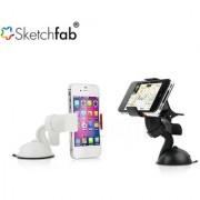 Sketchfab Branded Car Mobile Holder Mount Bracket Holder Stand 360 Degree Rotating - Assorted Color