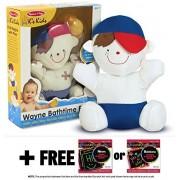 Ks Kids Wayne Bathtime Friend Bathtub Toy + FREE Melissa & Doug Scratch Art Mini-Pad Bundle [91886]