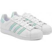 ADIDAS ORIGINALS SUPERSTAR W Sneakers For Women(White, Green)