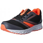 Reebok Women's Explore Run Black, Grey, Red and White Running Shoes - 6 UK
