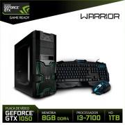 Computador Processador Intel i3 7ª Geração Memória 8GB DDR4 HD 1TB VGA GTX1050 2GB DDR5 Warrior - DT007 DT007